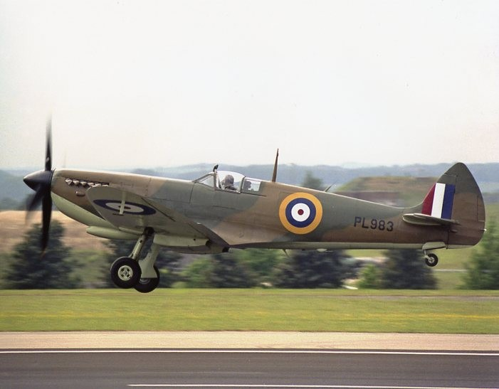 Colour Photograph of a Spitfire Mk X