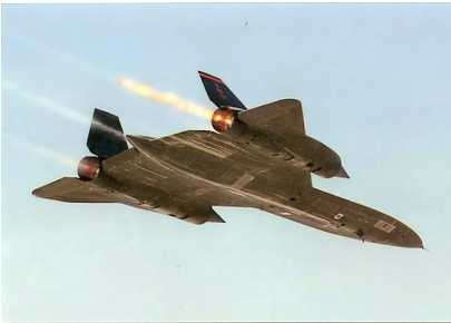 Colour Photograph of Lockheed Blackbird