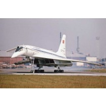 "Colour Photograph  TU-144S ""004""  CCCP 77144 Paris 1975"