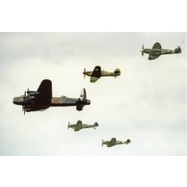 Colour Photograph of The Battle Of Britain Memorial Flight