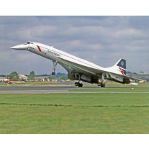 Colour Photograph Concorde G-BOAD Landing