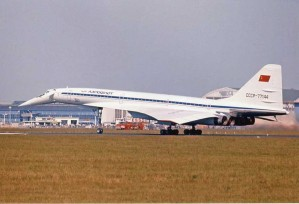 "Colour Photograph  TU-144S ""004""  CCCP 77144 Paris 1975-12 x 8"