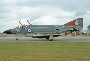 Colour Photograph of Phantom F4 767 Naval Air Squadron colors