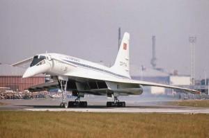 """Colour Photograph  TU-144S """"004""""  CCCP 77144 Paris 1975"""