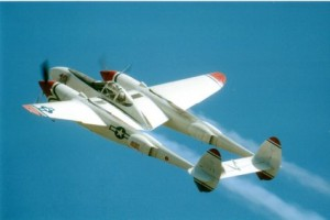 Color Photograph of a P-38J Lightning